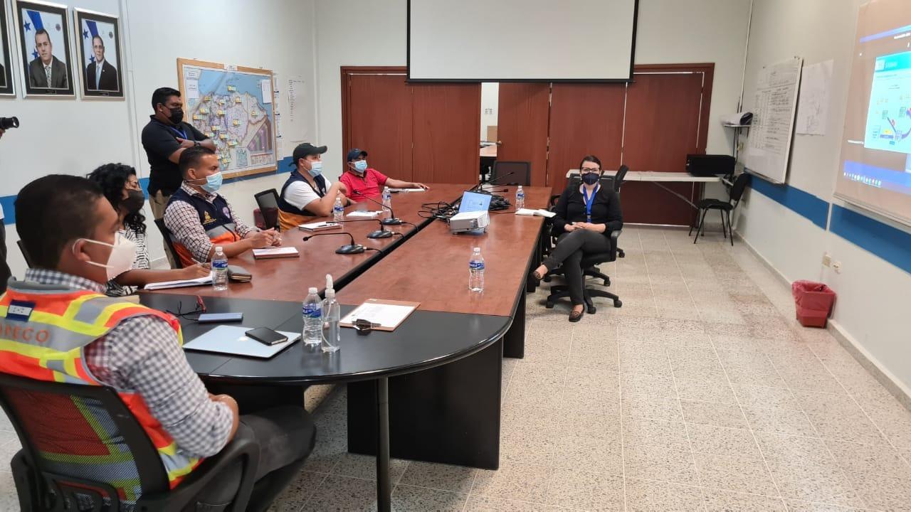 Primera reunión de preparación a las emergencias con COPECO en Tegucigalpa (Honduras), junio 2020. Credit: Jose Fernando Giraldo/WFP
