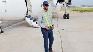 Ali Yackub at Mogadishu Airport - July 2020