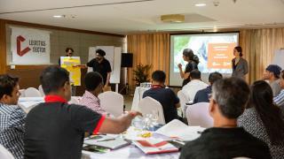 Participants present their ideas at the Preparedness Platform Workshop