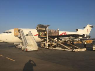 humanitarian cargo transportation, humanitarian logistics, air transport
