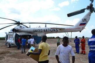 Forward Logistic Base Kissidougou in Guinea. Photo: Hakim Froissart.