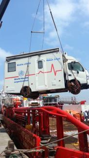 WHO, Mobile Clinics, VOS Apollo, offloading
