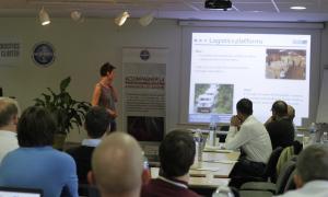 Media Image : Handicap International presents on their Logistics Platforms approach