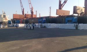 Media Image : Liberty grace - land cargo at quay side